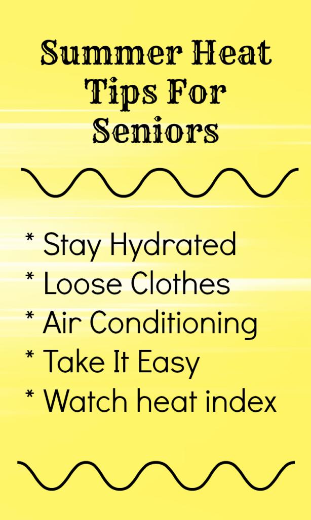 Summer heat tips seniors