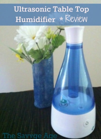 Ultrasonic Table Top Humidifier review. My favorite humidifer for allergies and dry air.