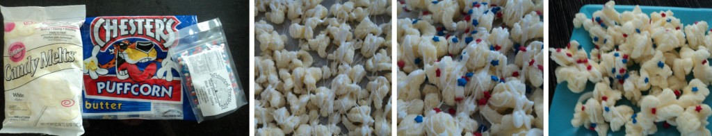 Steps to making Patriotic Puffcorn