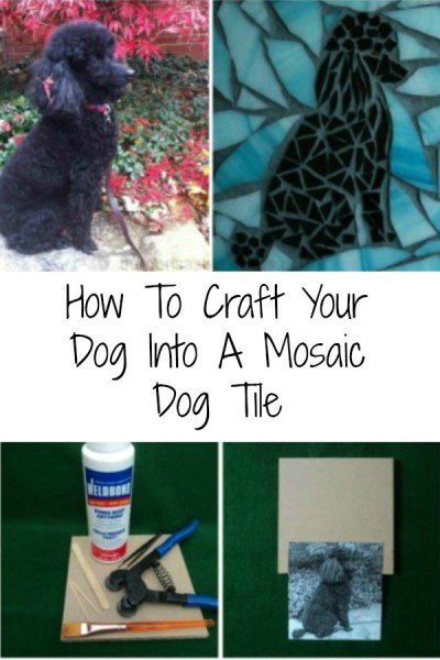 Easy DIY Craft your dog into a mosaic dog tile!