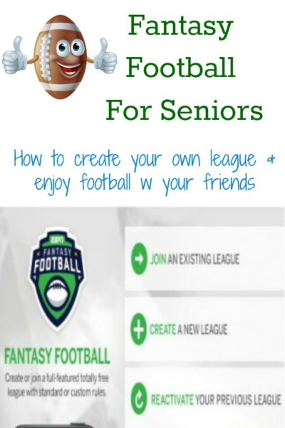 Great way for seniors to socialize. Learn how to create a fantasy football league.