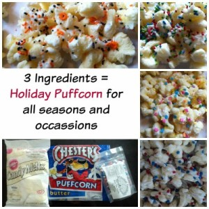 Easy, addictive recipe for Holiday Puffcorn.