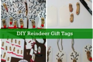 DIY Christmas Reindeer Gift Tags