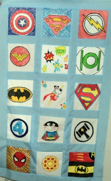 superhero classroom quilt