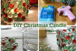 DIY Christmas Candle At The Dollar Store