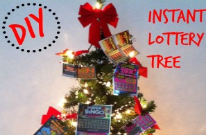 Easy DIY Lottery Ticket Tree