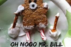 Oh Nooo Mr. Bill Skiing Gingerman Cookie