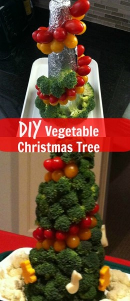 Diy vegetable christmas tree the savvy age