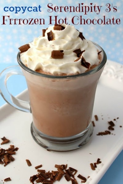 Enjoy this delish copycat recipe of the famous Serpendipity Frrrozen Hot Chocolate!