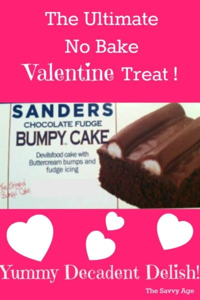 No time to bake? Sanders Bumpy Cake is the ultimate no bake cake!