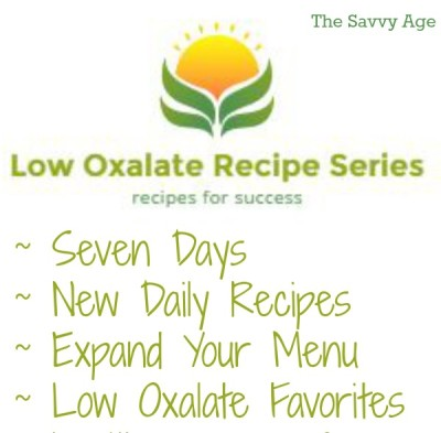 low oxalate recipe series fb