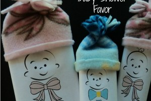 No Sew Baby Shower Favor: DIY Popcorn Wrapper Printable