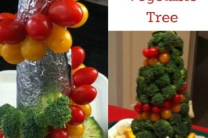 DIY Vegetable Tree Centerpiece