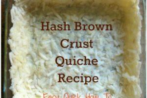 Delicious Hash Brown Crust Quiche Recipe