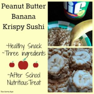 Peanut Butter Banana Krispy Sushi