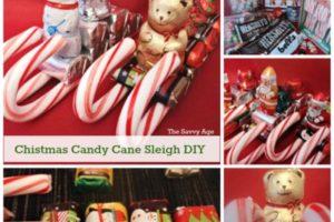 Cute Christmas Candy Cane Sleigh
