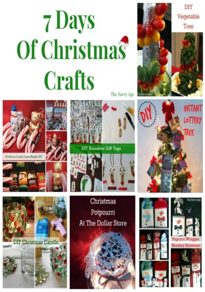 Seven Christmas Craft DIY which are affordable, easy to make and use the dollar store for materials!