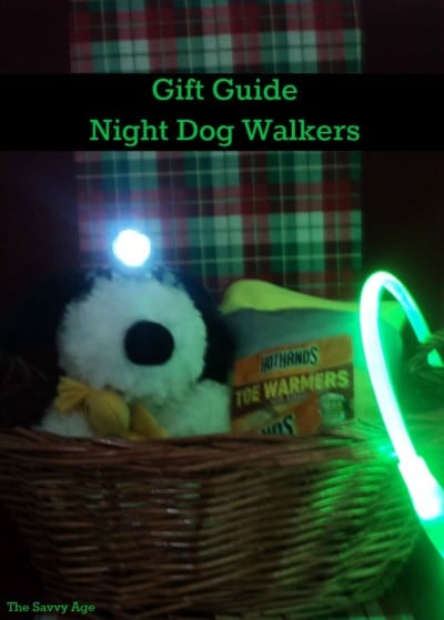 Gift Guide for Night Dog Walking. Great affordable tools for the safety of owner and pet!