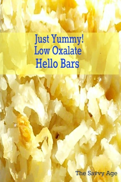 Low Oxalate Hello Dolly Bar recipe! Sweet treat anytime of the year.