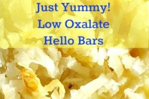 Sweet! Low Oxalate Hello Dolly Bar