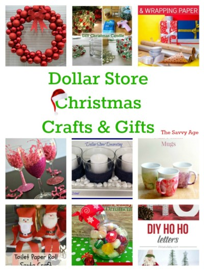 Who said Dollar Store? DIY Dollar Store Christmas Crafts & Gifts.