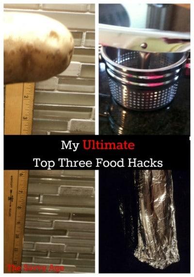 My top three food hacks to make cooking easier .