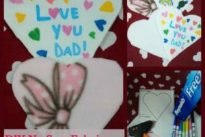 No Sew Fabric Valentine's Day Card – With Love!