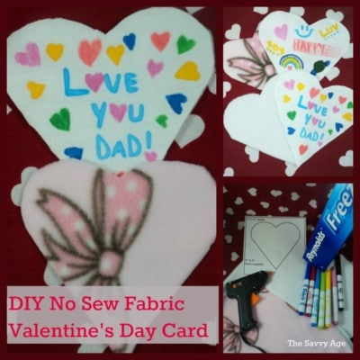 DIY No Sew Fabric Valentine's Day Card fb