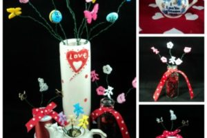 DIY Valentine's Day Button Vase – Dollar Store!