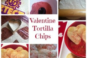 Easy Homemade Valentine Tortilla Chips