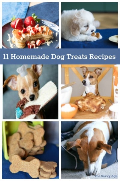 Enjoy 11 Homemade and Healthy Dog Treats recipes for your favorite furry family member!