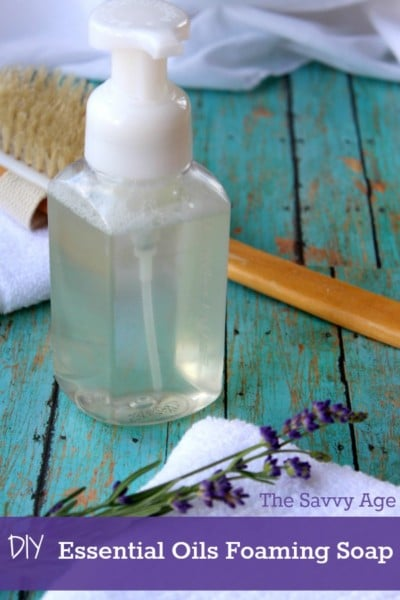 DIY Essential Oils Foaming Hand Soap! Hand made and home made using your healthy essential oils.