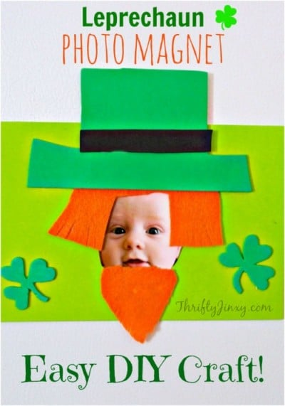 st. patricks day photo magnet