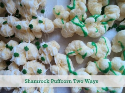 Shamrock Puffcorn two ways.