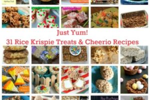 Just Yum! 31 Rice Krispie Treats & Cheerios Recipes
