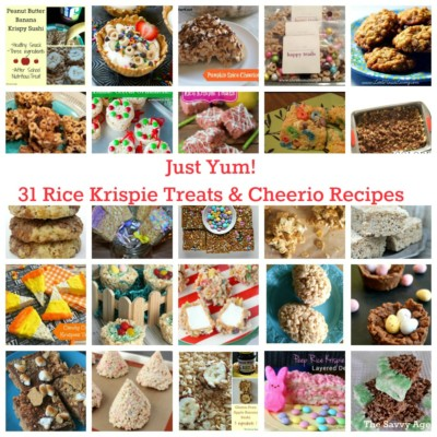 Just Yum! 31 Rice Krispie Treats & Cheerios Recipes