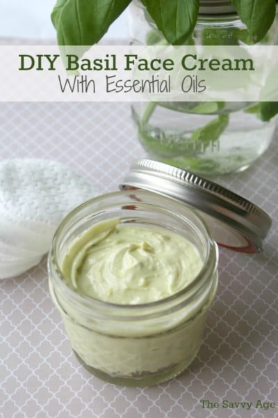 Soothing and relaxing! DIY Basil Face Cream With Essential Oils !