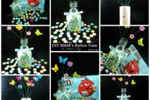 DIY M&M's Button Vase For Mother's Day