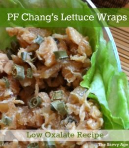 Copycat Recipe: Low Oxalate PF Chang's Lettuce Wrap