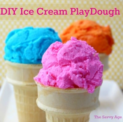 School's Out! Creative & Easy DIY: Ice Cream Playdough