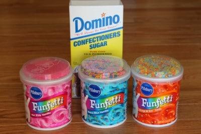 ingredients ice cream playdough