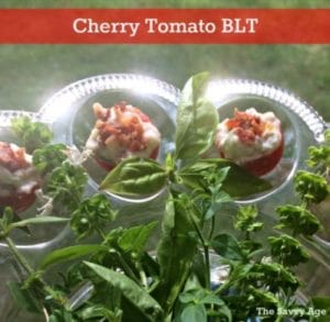 Just Yum! Cherry Tomato BLT Appetizer