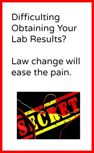Law change helps patients obtain their lab results.
