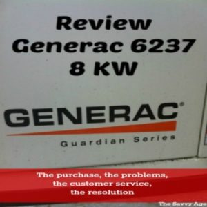 Thinking Of Purchasing A Standby Generator? Review: Generac Generator 6237 8 KW