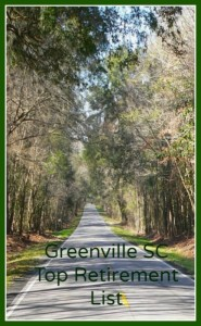 Greenville South Carolina continues to be a top retirement destination.