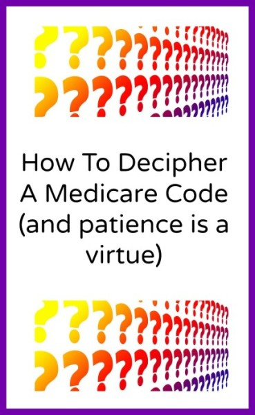 Medicare Codes Clarified