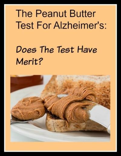 Peanut Butter Test For Alzheimer's