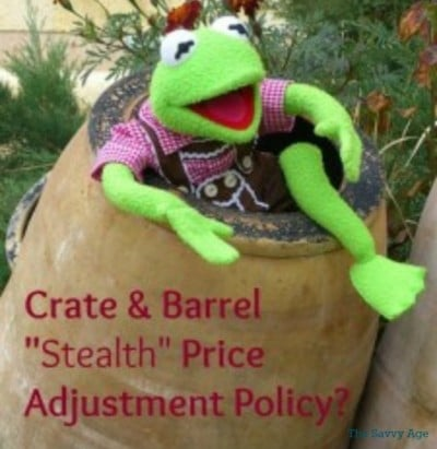 Ever buy a product and then... it immediately goes on sale! Price adjustment policy of Crate And Barrel is tough to locate.