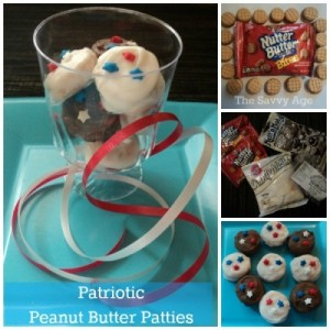 "Easy Patriotic Peanut Butter Patties. Copycat recipe for ""the"" girl scout peanut butter cookie!"
