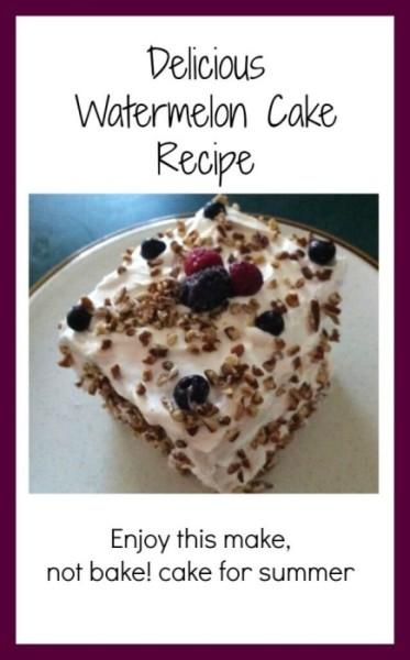 No Bake! Easy And Refreshing Watermelon Cake Recipe